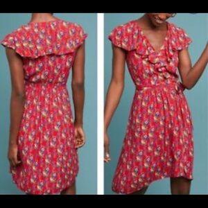 Anthropologie Maeve floral dress size 6